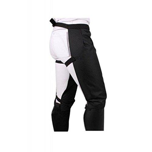 QHP Reithose Regenreithose Rainlegs bis zu den Knien one size (schwarz)