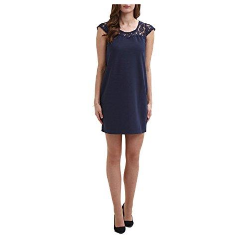 Vila Damen Schlauch Kleid Blau