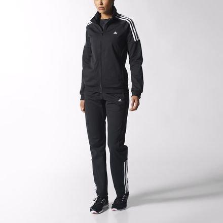adidas Damen Trainingsanzug FRIEDA, Schwarz/Weiß L schwarz/weiß
