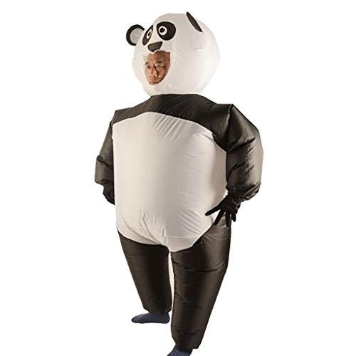 D DOLITY Aufblasbares Kostüm Luft Anzug Fatsuit, Panda Figur, mit Batteriefach und Fan, für Weihnachten Halloween usw.
