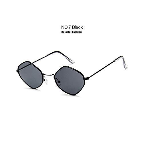 Sportbrillen, Angeln Golfbrille,Fashion Women Vintage Sunglasses Men Alloy Frame Ocean Purple Blue Clear Sun Glasses Small Frame Cat Eye Glasses UV400 Black