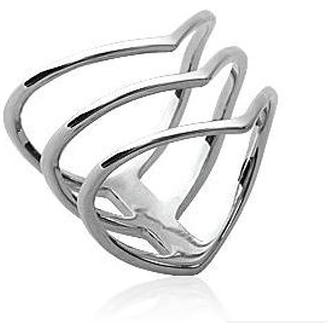 Anello da donna in argento, con 3 anelli, collezione ZANZYBAR frecce, modello: Rosso - 20 Frecce