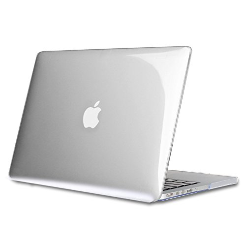 Fintie MacBook Pro 13 Retina Hülle (NO CD-ROM Drive) - Ultradünne Plastik Hartschale Schutzhülle Snap Case für Apple MacBook Pro 13.3 Zoll mit Retina Display (A1502 / A1425), Crystal Clear