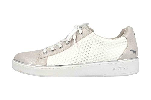 MUSTANG Shoes Sneaker in Übergrößen Silber 1300-305-124 große Damenschuhe, Größe:45