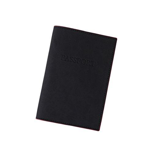 EPA0307 schwarzer roter Reise-Halter für formale Kunstleder-Pass-Abdeckung mit Kartenhalter-Bescheinigung-Art und Weise durch Epoint (Reise-halter Pass)