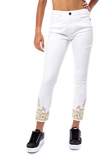 Desigual Pantalón Mujer Blanco