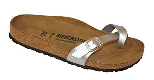 Birkenstock Piazza Infradito Donna (35 EU, Silver)