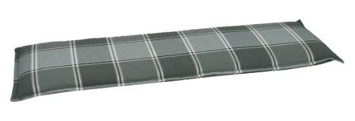 GO-DE 24515-12 Bankauflage 3 Sitzer, circa 145 x 48 x 6 cm, anthrazit / grau Karo
