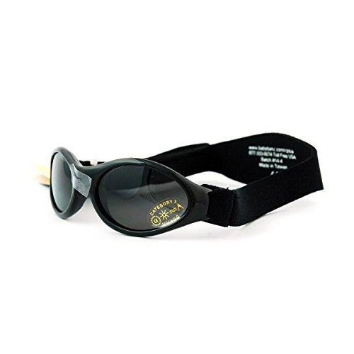 BabyBanz - Sonnenbrillen für Baby 0-2 und Kind 2-5 Jahre - 100 % UV-Schutz-Comfort Style (0-2 Jahre, MIDNIGHT BLACK)