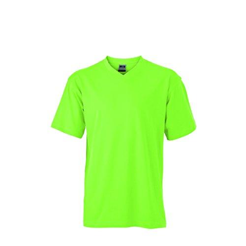 JAMES & NICHOLSON Herren T-Shirt, Einfarbig Vert citron