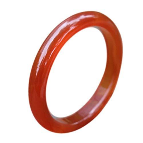 atürliches dünnes Jade-Armband aus rotem Achat Weibliches Armband aus echtem brasilianischem Jade-Chalcedon ()