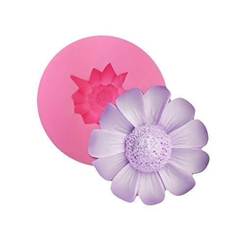 ZT TRADE Molde de Silicona de Modelado de crisantemo Fondant Pastel de Fondant de Flores de azúcar de Chocolate Molde de decoración de Modelado (Rosa)