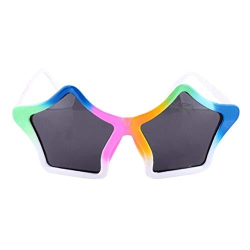 (Amosfun Party Star Sonnenbrille Lustige Augengläser Kostüm Glas Party Foto Requisiten Weihnachten Geburtstagsgeschenk für Kinder (Bunte))