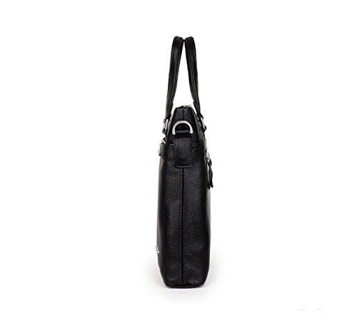 Männer Handtasche Leder Messenger Bag Umhängetasche Business Pack Freizeit Mode Wild Atmosphäre Brown