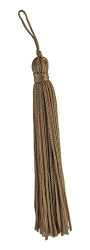 DecoPro Chainette Quaste, 10cm lang mit 2,5cm Schlaufe, Basic Trim Kollektion, Stil: RT04,Farbe A1, 10er Set, weiß -