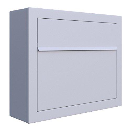Briefkasten, Design Wandbriefkasten Elegance Weiß - Bravios