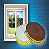 Sealplus 6 meter P-type Medium gap 2.5 - 4 mm Self Adhesive Weather Strip Seal Door Window Fitting Brown