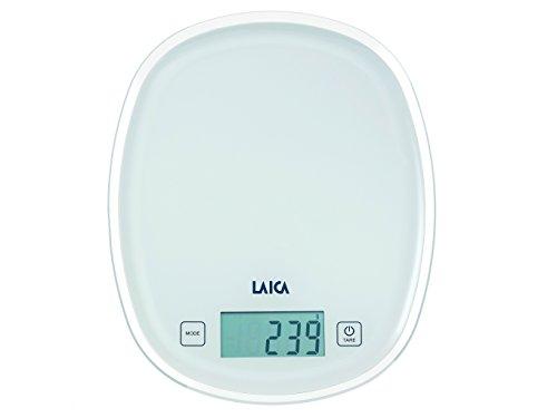 Laica ks1302 bilancia da cucina elettronica, colore bianco, tasti touch sensor, kg 5