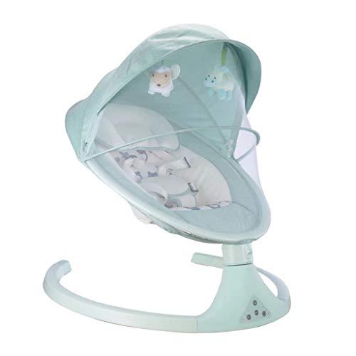 Sisyria Bébé Rocking Basket, électrique bébé Bassinets léger en Alliage d'aluminium bébé Chaise Longue Reflux Lit bébé avec télécommande,Vert