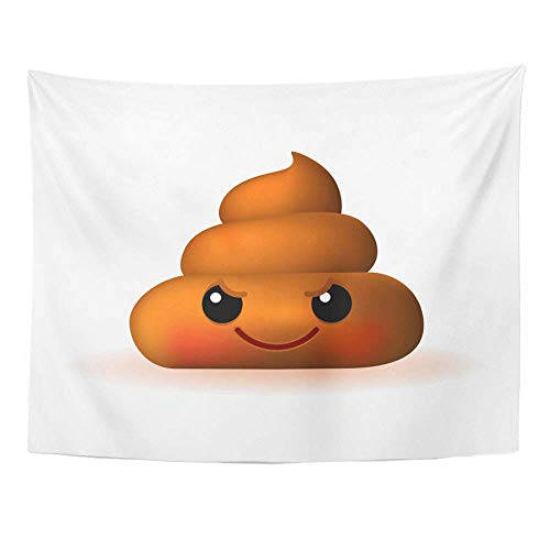 Monicago Wandteppiche, Wall Tapestry, Art Decor Wall, Avatar Cute Wicked Poo Emoticon on Bad Bullshit 60