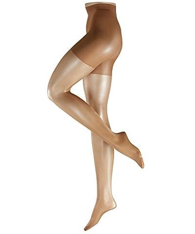 FALKE Damen Glanz Fein Strumpfhose Shaping Panty, 15 DEN, Gr. 40 (Herstellergröße: 40/42), Beige (powder 4169)