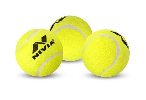 Nivia Heavy Weight Junior Tennis Cricket Ball, Pack of 12 (Yellow)