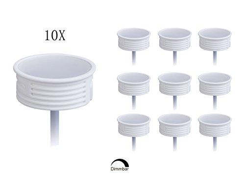10x Ultra Flaches Keramik 230V 5W GU10 MR16 LED Modul 50mm Reflektordurchmesser, Warmweiß 3000K 425Lumen, 82Ra, PF0,98, 120 Grad Abstrahlung Passend für Einbaustrahler 50 Mm-modul