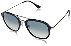 Ray-Ban Gradient Square Unisex Sunglasses - (0RB427363343A52|52|Green Color)