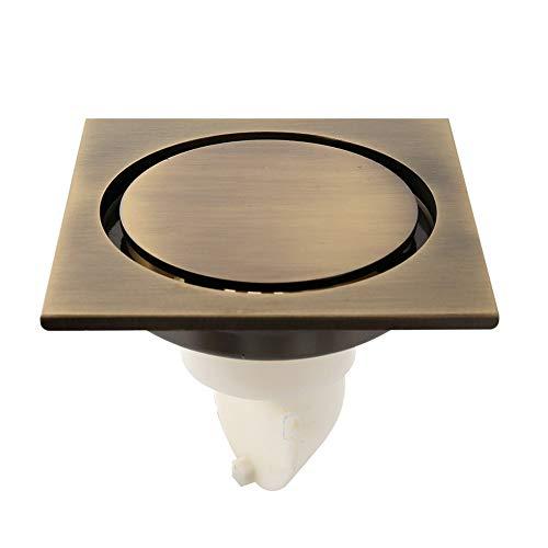 Unsichtbarer Bodenablauf Bad Messing Deo Bodenablauf verdickt Innenkern gelb 10cm * 10cm - Bronze Stopper Assembly