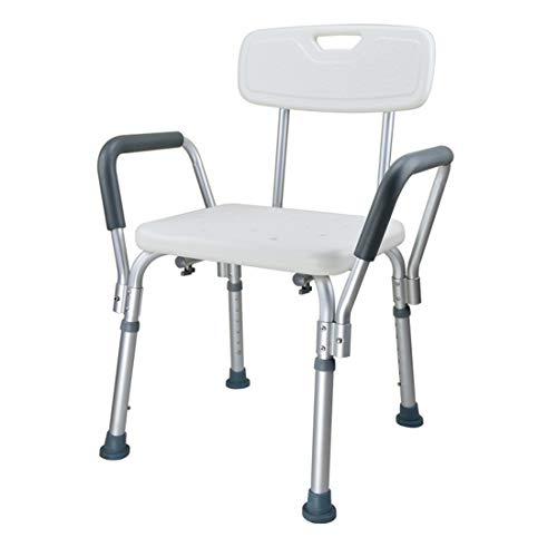 BFYLIN Duschhocker Duschstuhl Badhocker Höhenverstellbar Badhocker Duschhilfe mit Armlehne und Rückenlehne Höhenverstellbar für Alter, Schwangere aus (Modell 7)