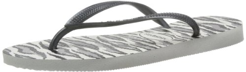 Havaianas Slim Animals, Infradito Donna, White/grey, 43/44 EU (41/42 BR)