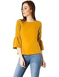 Shadow Export Women's Crepe Plain Regular fit Top