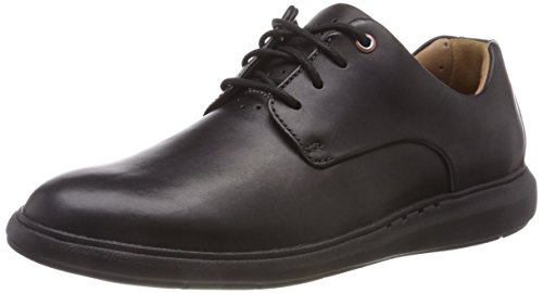 4f0291b4c9 Clarks Un Voyageplain, Zapatos de Cordones Derby para Hombre, Negro (Black  Leather)
