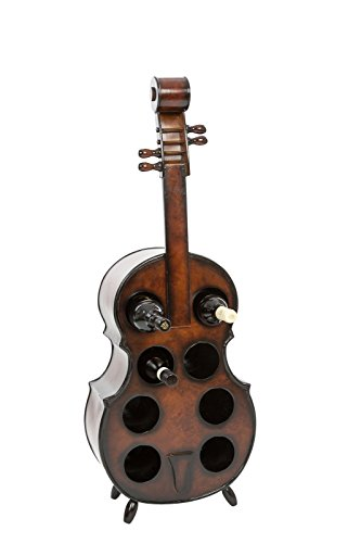 aubaho Cello Weinregal Kontrabass Weinständer Flaschenregal Flasche Regal wine rack -