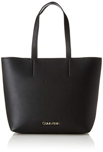 Calvin Klein Damen Ck Must Medium Shopper Tote, Schwarz (Black), 13x28x33 cm