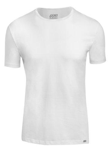 Jockey® Herren, Cotton Stretch T-Shirt 2er-Pack, kurzarm, 17301822, weiß, Größe 3XL -