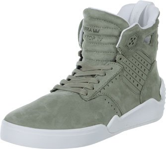Supra SKYTOP IV Herren Hohe Sneakers Laurel oak - white