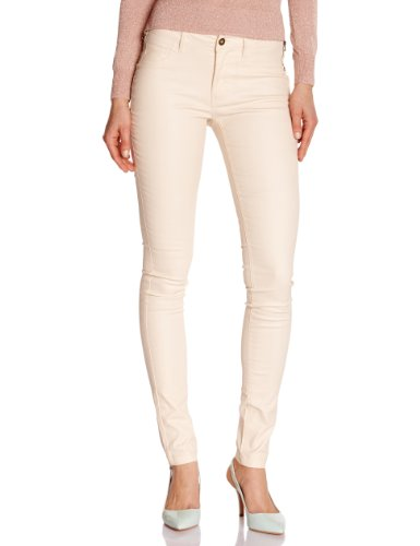 Vila - Jeans slim, donna, Arancione (Orange (Novelle Peach)), 44/46 IT (31W/34L)