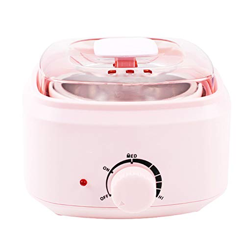 Wachswärmer mit Elektronische Temperaturregelung Wax Enthaarung,Wachsgerät für Beine Achselhöhle Bikini-Zone,Pink