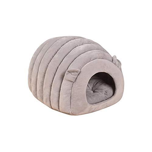 sunronal Haustierbett Katze Kuschelhöhle Kleine Hund Gemütliche Bett Iglu Bett Höhle Zwinger für Katzen Welpen und Kleine Hunde