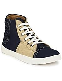 Big Fox Men's Canvas High Ankle Sneaker Shoes