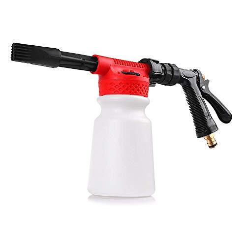 GYFHMY Auto-Reinigungsschaum-Pistole Multifunktionale Waschwasser-Seife und verstellbare Wäsche mit Einstellungsverhältnis für Gartenschlauch -