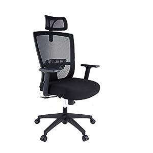 mfavour Bürostuhl, Ergonomisch Schreibtischstuhl Computer Stuhl drehstuhl mit Netz-Design-Sitzkissen, Verstellbare…