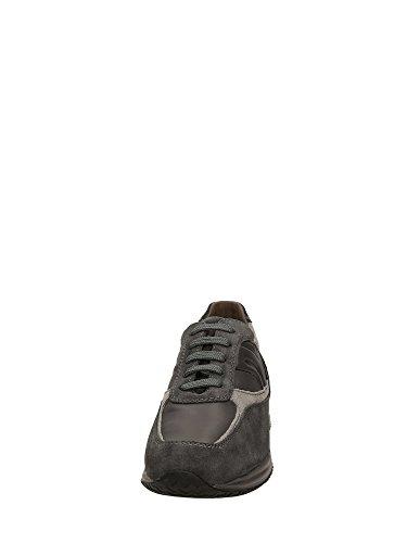 Geox U4462A Sneakers Homme Croûte De Cuir Gris