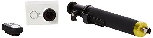 YI Action Kamera mit Selfie Stick und Bluetooth Fernbedienung–Weiß