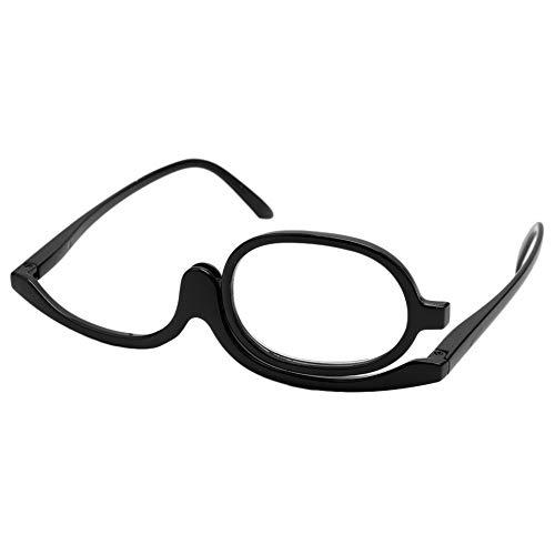 Fogun Lesebrillen,Damen Schminkbrille - Make up Brille,+1,0 +1,5 +2,0 +2,5, 3,0,+3,5,+4,0 (Schwarz, 3.5)
