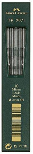 Faber-Castell 127116 - 10 Fallminen TK 9071, Minenstärke 2 mm, Härtegrad 6H
