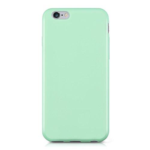kwmobile Étui en TPU silicone élégant pour Apple iPhone 6 / 6S en rose ancien mat .menthe mat