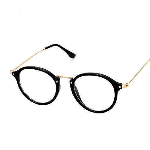 Duhongmei123 Mode Brillen Retro ultraleichte Brillenfassung Clear Lens Eyewear Student Glasses. Occhiali (Farbe : Schwarz)