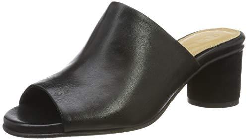 SELECTED FEMME Damen SLFMERLE Leather Round Heel Mule B Pantoletten, Schwarz Black, 39 EU Heel Mule